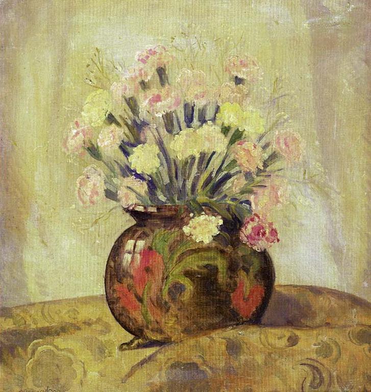 Αποτέλεσμα εικόνας για Αγήνωρ Αστεριάδης βάζο με λουλούδια