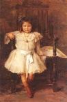 Ιακωβίδης Γεώργιος-Προσωπογραφία της μικρής Σταμπουλοπούλου