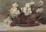 Ιακωβίδης Γεώργιος-Βάζο με λουλούδια και σταφύλια