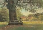 Ιακωβίδης Γεώργιος-Γυναίκα καθισμένη σε κορμό δέντρου