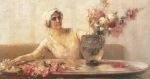 Ιακωβίδης Γεώργιος-Γυναίκα με λουλούδια