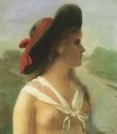 Ιακωβίδης Γεώργιος-Κοπέλα με καπέλο