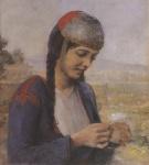 Ιακωβίδης Γεώργιος-Κοπέλα με μαργαρίτα_2