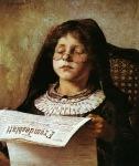 Ιακωβίδης Γεώργιος-Κορίτσι που διαβάζει