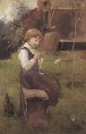 Ιακωβίδης Γεώργιος-Κορίτσι που κάθεται σε παγκάκι