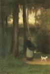 Ιακωβίδης Γεώργιος-Κυρία με σκυλάκι στο δάσος