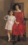 Ιακωβίδης Γεώργιος-Μητέρα με κοριτσάκι, 1919