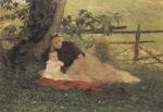 Ιακωβίδης Γεώργιος-Ο γιός του καλλιτεχνη στον κήπο