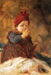 Ιακωβίδης Γεώργιος-Παιδί με μήλο, Girl eating an apple