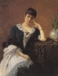 Ιακωβίδης Γεώργιος-Προσωπογραφία Ζηνοβίας Ψυχά, 1885