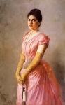 Ιακωβίδης Γεώργιος-Προσωπογραφία κυρίας με ροζ