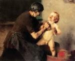 Ιακωβίδης Γεώργιος-Το πρώτο μπάνιο ή Ψυχρολουσία, 1898