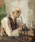 Ιακωβίδης Γεώργιος-Old man with pipe