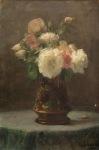 Ιακωβίδης Γεώργιος-Vase with bouquet, 1929