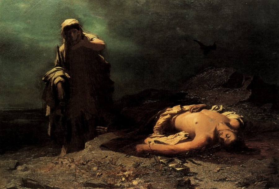 Η Αντιγόνη εμπρός στο νεκρό Πολυνείκη, 1865