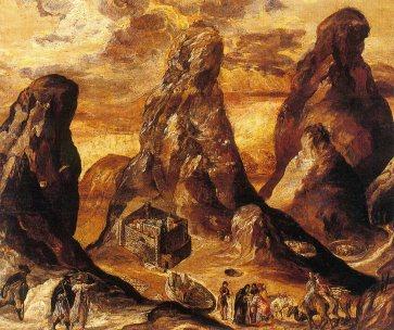 Η Άποψη του Όρους και της Μονής Σινά, Mount Sinai, 1570