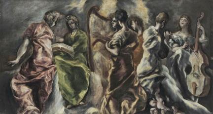 El Greco-Η συναυλία των Αγγέλων, The Concert of the Angels, π. 1608-1614 (Εθνική πινακοθήκη, Αθήνα)