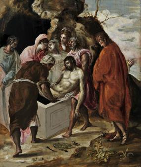 El Greco-Η ταφή του Χριστού, The Entombment of Christ, π. 1568-1570 (Εθνική πινακοθήκη, Αθήνα)