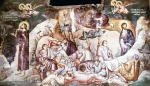Αστραπάς Μιχαήλ και Ευτύχιος-Τοιχογραφία με την Προσευχή του Χριστού, 1295, Οχρίδα, Περίβλεπτος