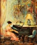 Ιωαννίδης Βίκτωρ-Κορίτσι στο πιάνο, 1967